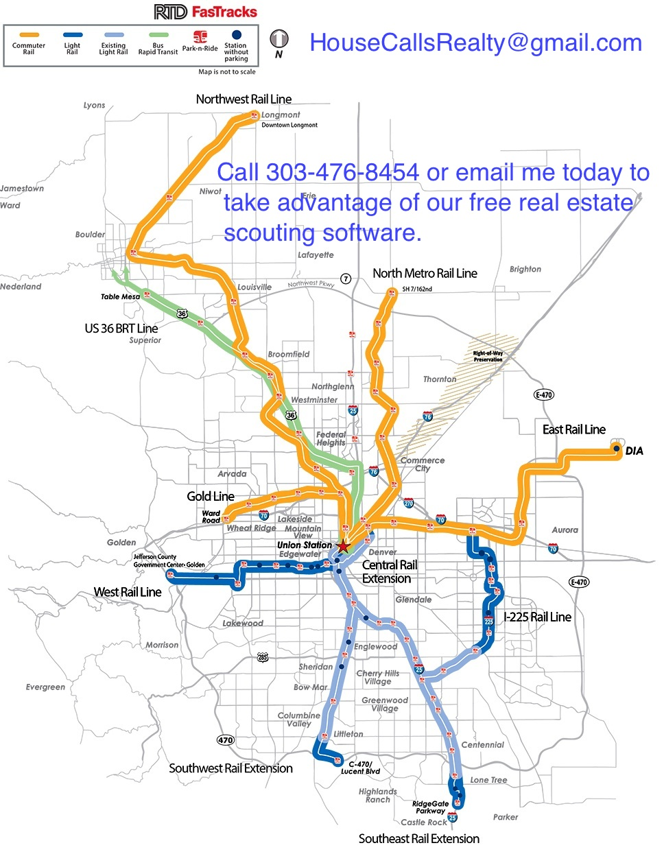 Denver Light Rail Development Map