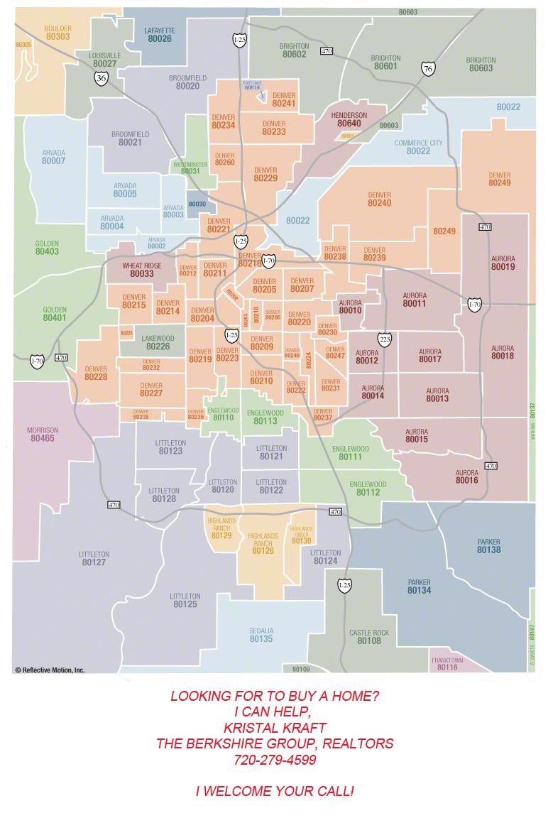 Denver Area Zip Code Map | Zip Code MAP