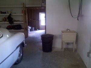 Inside garage includes an additional sink.